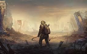 desktop wallpaper man post apocalyptic