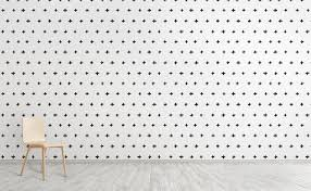 Rows Of Black White Plus Signs Wallpaper For Walls Inked Swiss Cross