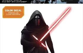 New Rogue One Force Awakens Kylo Ren Window Decal Figure Available On Walmart Com