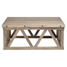 pine timber square coffee table