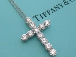 tiffany co diamond cross necklace
