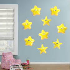 Harriet Bee Fairy Tales Fantasy 9 Stars With A Smile Wall Decal Wayfair