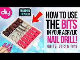 how to use acrylic nail drill bits