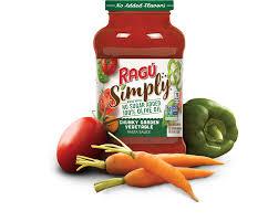 simply chunky garden vegetable sauce