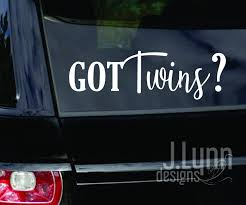 Got Multiples Twins Triplets Quads Car Decals Window Etsy In 2020 Family Decals Baby Decals Custom Decals