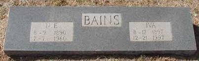 WILLIAMS BAINS, IVA - Callahan County, Texas | IVA WILLIAMS BAINS ...