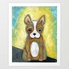 Puppy Painting Children S Room Decor Kid S Room Wall Art Dog Painting Animal Art Art Print By Jilllambert Society6