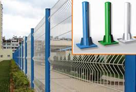 Welded Wire Mesh Fencing System Security Steel Fencing Products