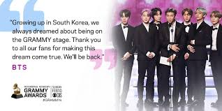 bts makes kpop fans proud a solid promise at the grammy