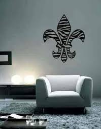 Amazon Com Zebra Fleur De Lis Wall Decal Sticker Highest Quality Made In Usa 27 X 23 Black Or Choose The Color Kitchen Dining