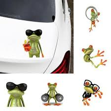 5pcs Large 3d Funny Frog Car Window Windshield Vinyl Decal Graphic Stickers Gift Buy At Low Prices In The Joom Online Store