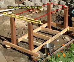 Swimming Pool To Pond How To Make A Grow Bed Part 3 Setting Support Posts
