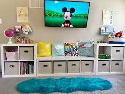 Kids Play Room Cube Storage Organized Playroom Kids Bedroom Organization Toddler Bedrooms Kid Room Decor