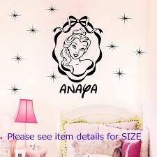 Amazon Com Disney Princess Belle Removable Wall Stickers Personal Name Home Decor Wall Art Vinyl Nursery Decals Handmade