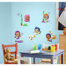 New Bubble Guppies Peel Stick Wall Decals Kids Bedroom Toy Room Stickers Decor 313042658628 Ebay