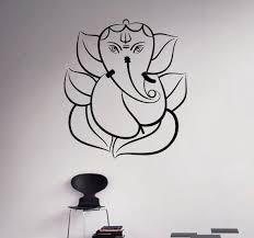 Lord Ganesha Vinyl Decal Hindu God Wall Sticker Indian Home Etsy