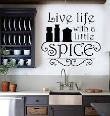 Vinyl Wall Decal Kitchen Quote Spice Chef Restaurant Cook Stickers Uni Wallstickers4you
