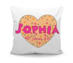 Personalised Printed Custom Name Kids Room Love Heart Filled Cushion With Inner Ebay