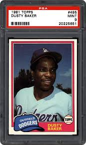 1981 Topps & Topps Traded Dusty Baker   PSA CardFacts™