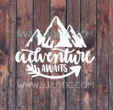 Adventure Decal Explore Decal Car Decal Yeti Decal Adventure Awaits Slrustic