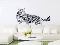 Amazon Com Large Wild Animal Lazily Tiger Tail Up Lying Lefr Face Wall Decal Stickers Decoration Decorative Mural Vinyl 100cm Wide X 40cm High Black Color Home Kitchen