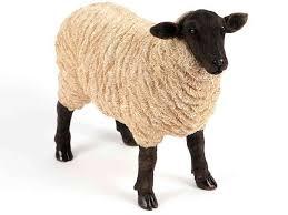 grazing sheep collectable garden ornament