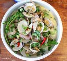 Coconut Milk Steamed Clams with Ginger ...