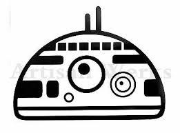 Bb8 Droid Head Star Wars Vinyl Decal Sticker Car Truck Bumper Wall Window Ebay