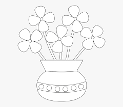flower easy flower pot drawing