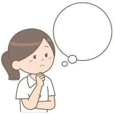 考え事をしている看護師のイラスト🎨【フリー素材】|看護roo![カンゴルー]