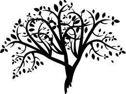 Siluet abstrak Tree | Domain publik vektor