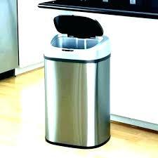 lift top wastebasket open box small