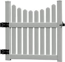 Amazon Com 48 5 W Vinyl Cottage Picket Gate Vinyl Gate Arbor Garden Outdoor
