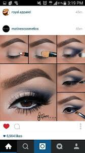 prom makeup for navy blue dress
