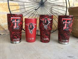 Customized Texas Tech Yeti Cups By Guns Up Hydrographics Texas Tech Texas Tech University Decals For Yeti Cups