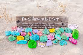 sending positive vibes on painted rocks