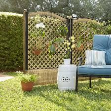 Amazon Com Brylanehome Trellis Fence Set Of 2 Bronze Garden Outdoor