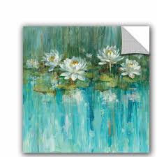 East Urban Home Water Lily Pond Removable Wall Decal Wayfair