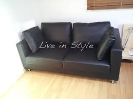 leather sofa max 9002 in balck