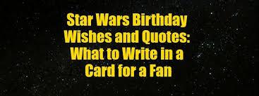 birthday card for a star wars fan