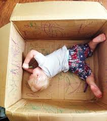 use cardboard boxes for kids and