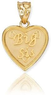 com 14k yellow gold big sis