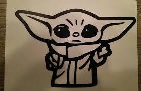 Baby Yoda Vinyl Decal Star Wars Sticker The Mandalorian Car Vinyl Jedi Sith Ebay