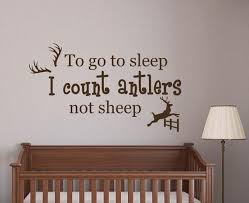 Wall Decals Quote To Go To Sleep I Count Antlers Not Sheep Etsy
