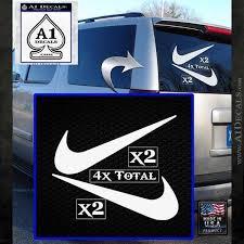 Nike Swoosh 4pk Decal Sticker Dn A1 Decals
