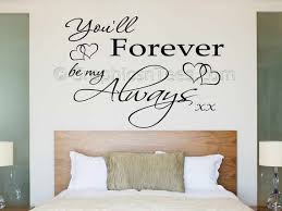 Bedroom Wall Sticker You Ll Forever Be My Always Etsy