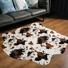 Cute Cow Print Rugs Western Cowboy Decor Faux Cow Hide Rug For Kids Room 140x160cm Rug Aliexpress