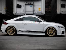 Decal Sticker Vinyl Side Racing Stripes Compatible With Audi Tt Rs Tts 2006 2014 Ultimateprocy