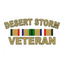Desert Storm Veteran Outside Window Decal With Ribbons Flying Tigers Surplus