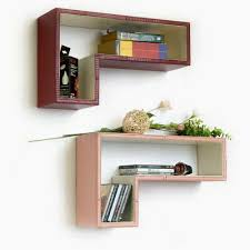 floating wall shelf faux leather